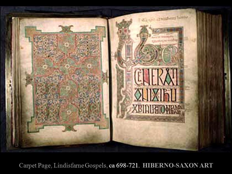 Carpet Page, Lindisfarne Gospels, ca 698-721. HIBERNO-SAXON ART