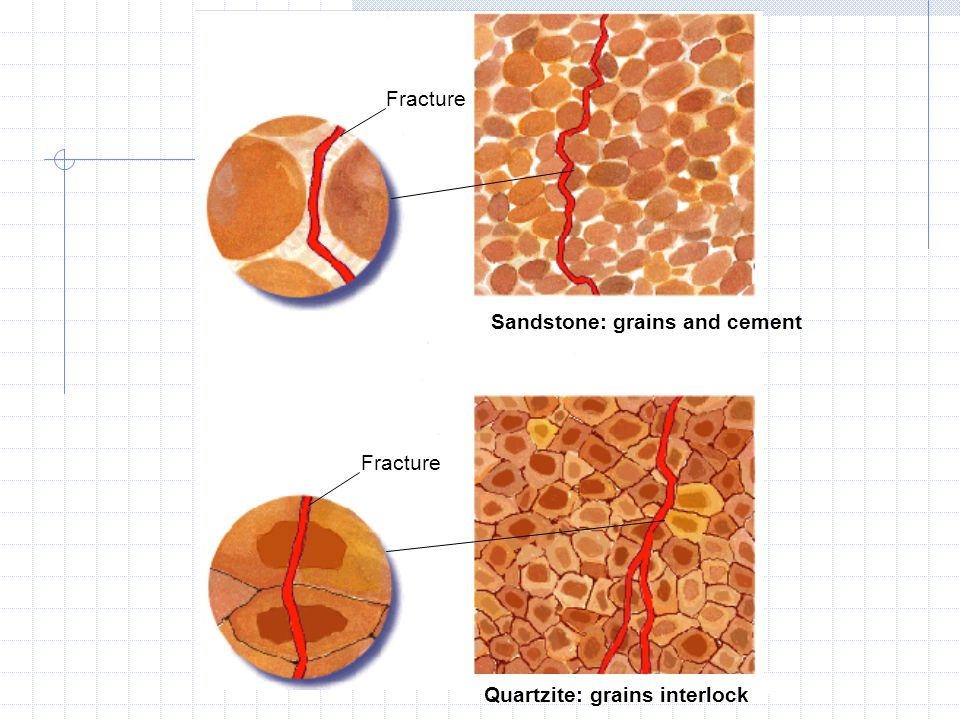 Sandstone: grains and cement