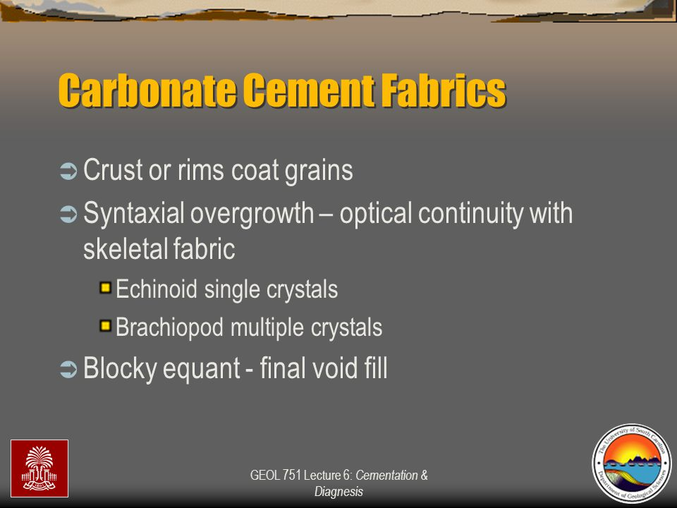 Carbonate Cement Fabrics