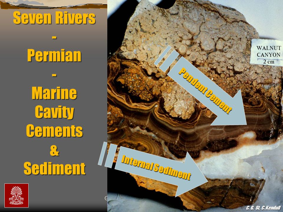 Seven Rivers - Permian - Marine Cavity Cements & Sediment
