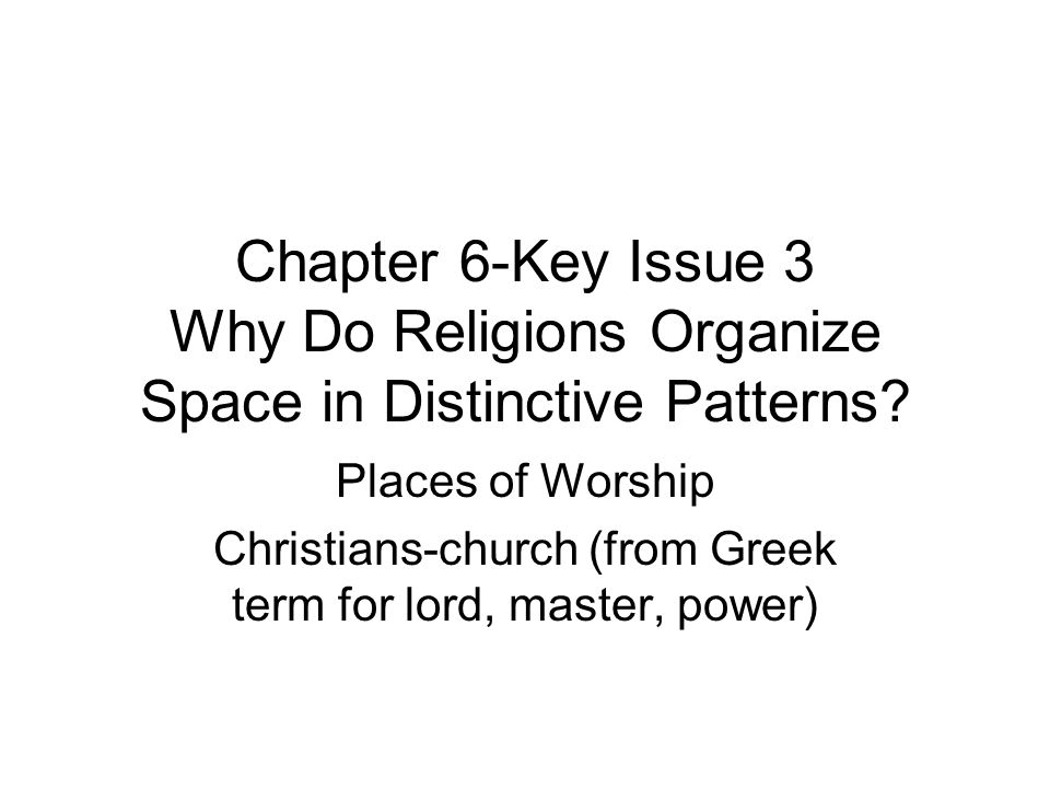 Christians-church (from Greek term for lord, master, power)