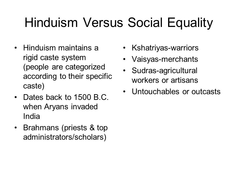 Hinduism Versus Social Equality