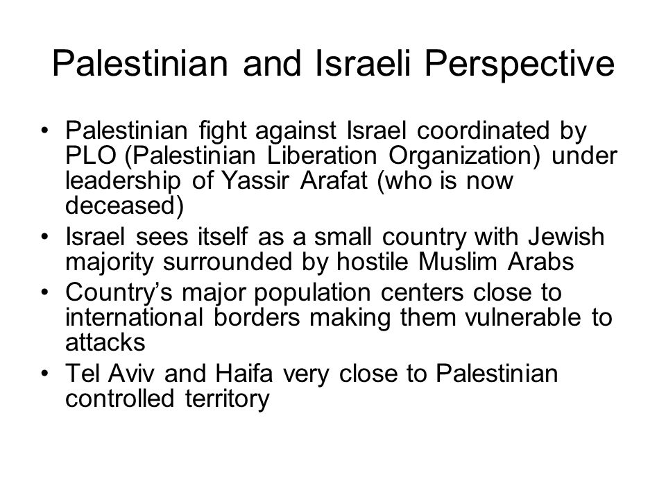 Palestinian and Israeli Perspective