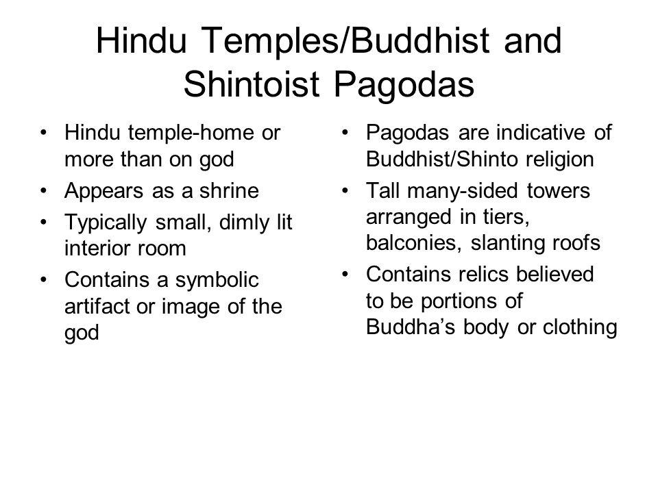 Hindu Temples/Buddhist and Shintoist Pagodas