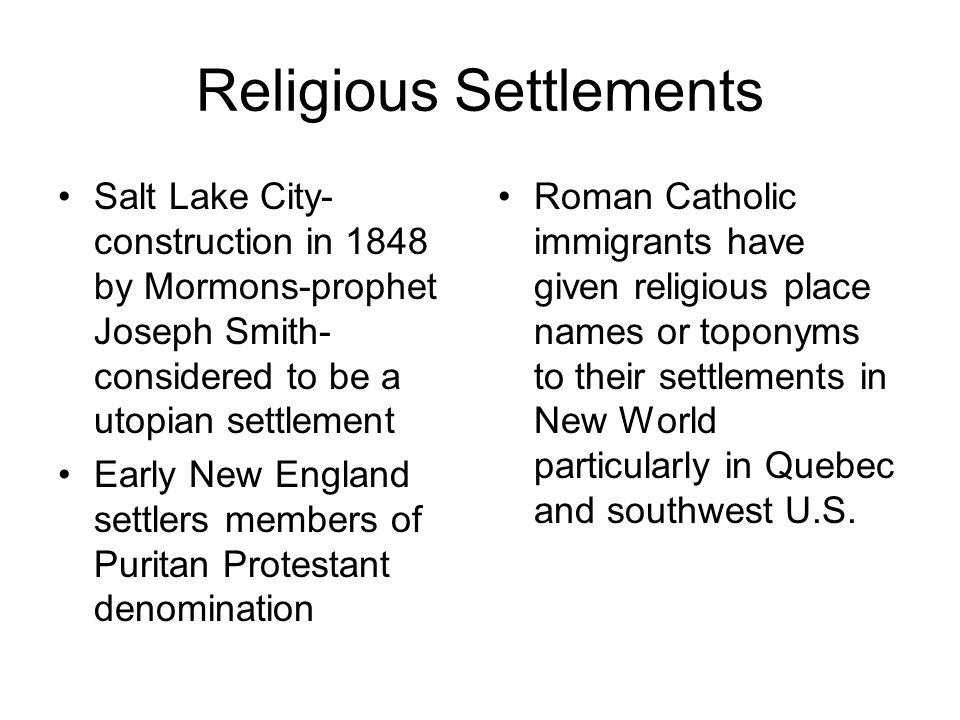 Religious Settlements