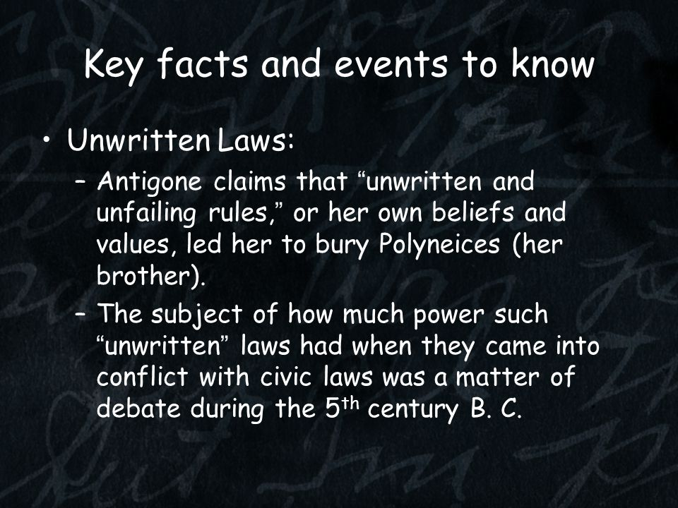 Key facts and events to know