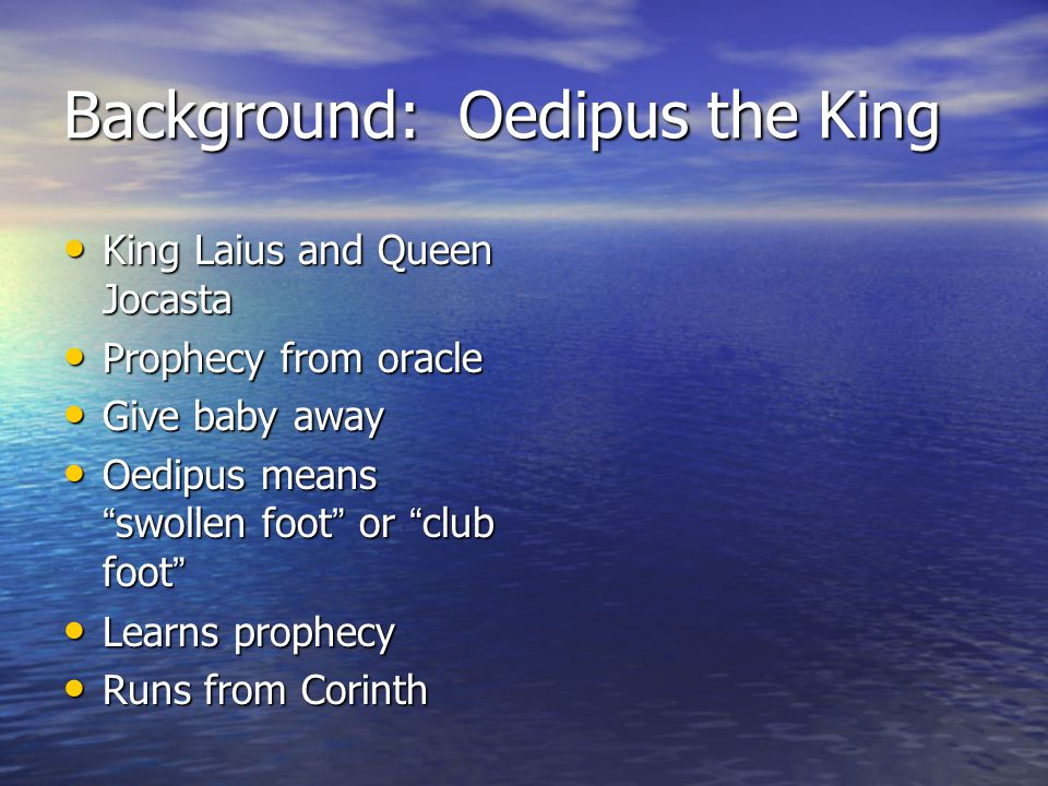 Background: Oedipus the King