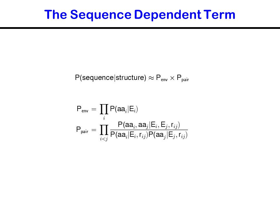The Sequence Dependent Term