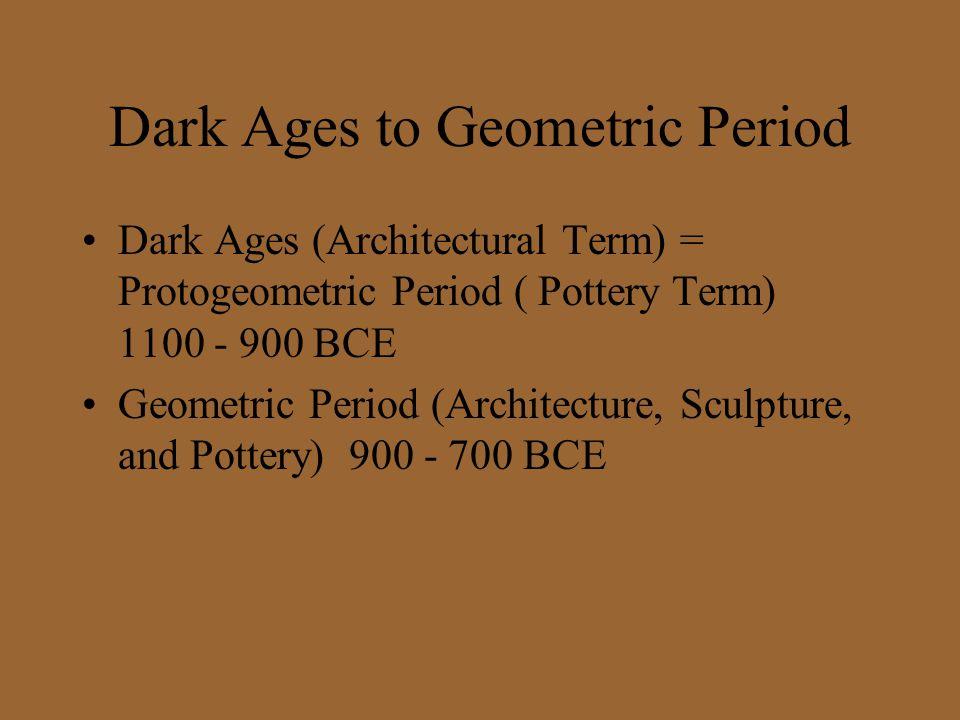 Dark Ages to Geometric Period