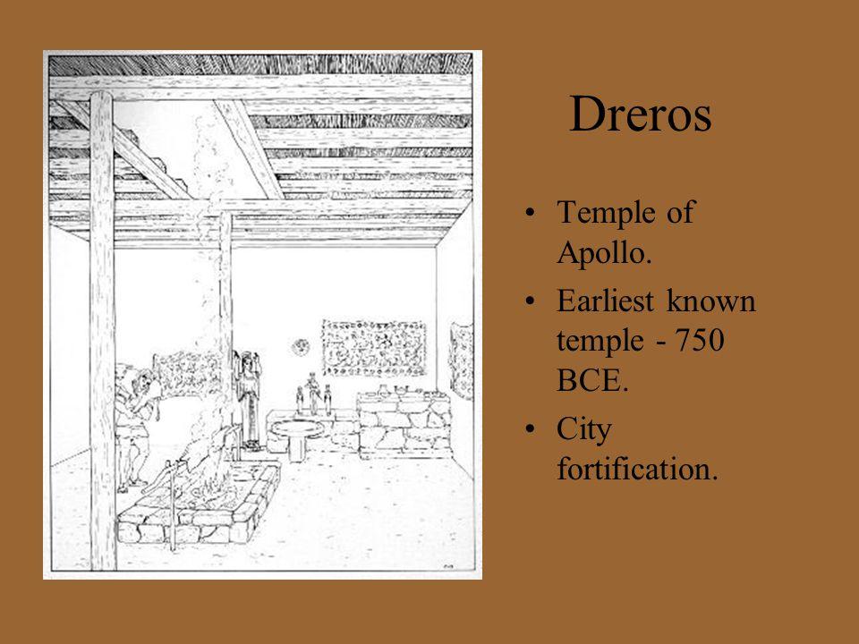 Dreros Temple of Apollo. Earliest known temple - 750 BCE.