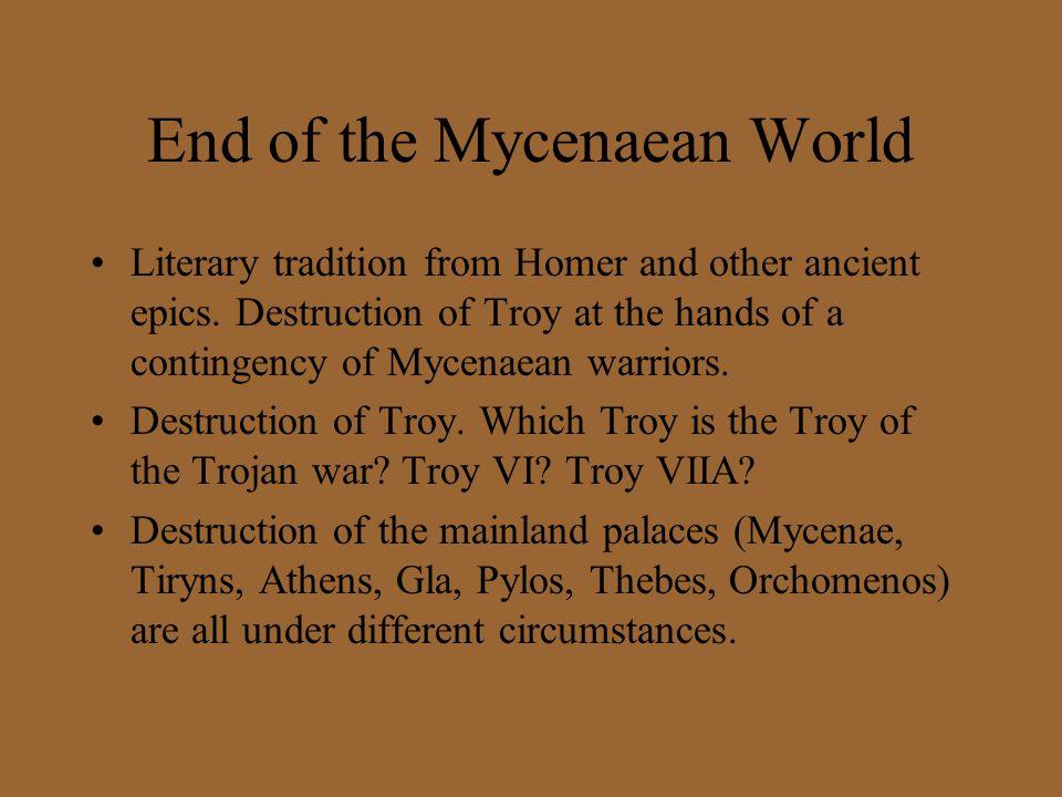 End of the Mycenaean World