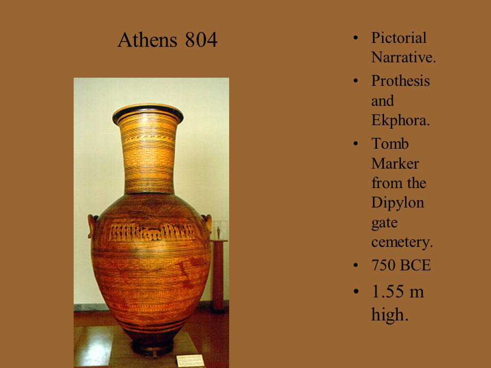 Athens 804 1.55 m high. Pictorial Narrative. Prothesis and Ekphora.