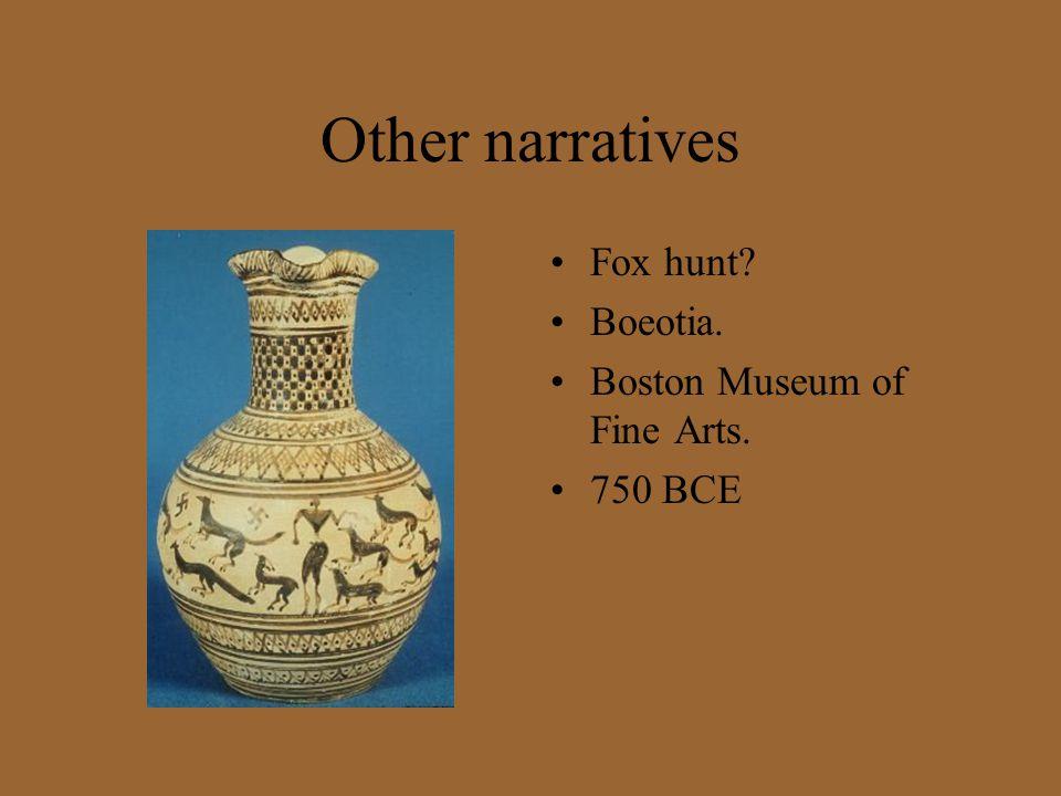Other narratives Fox hunt Boeotia. Boston Museum of Fine Arts.
