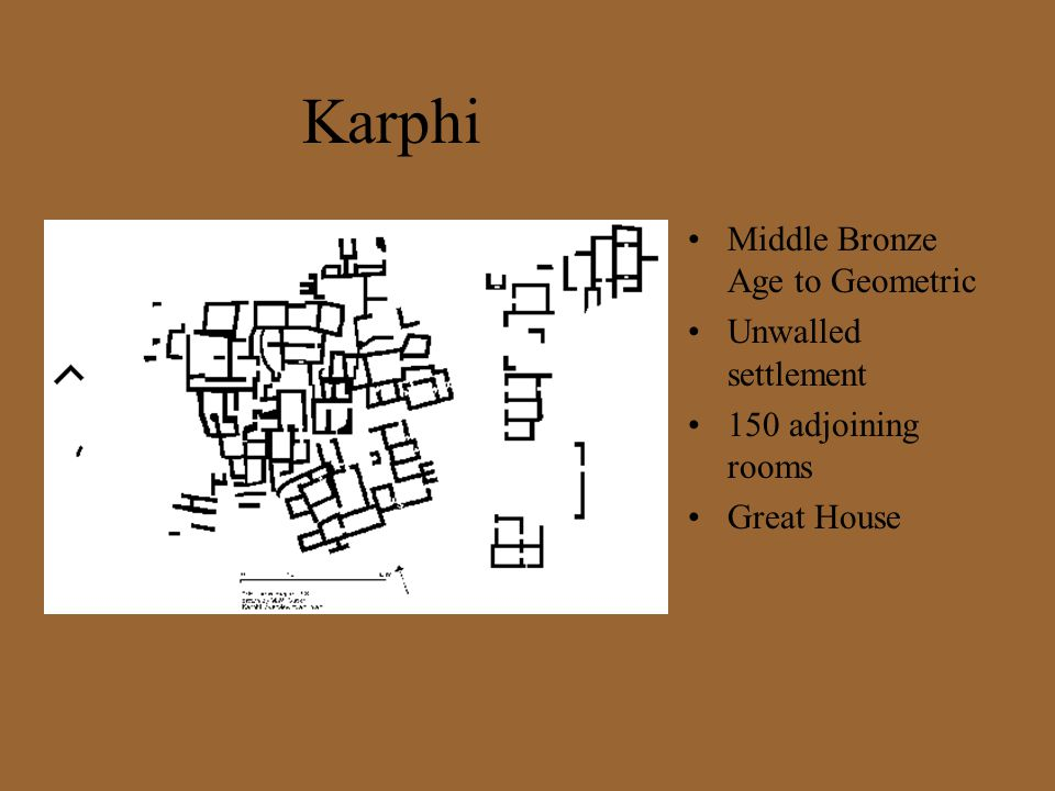 Karphi Middle Bronze Age to Geometric Unwalled settlement
