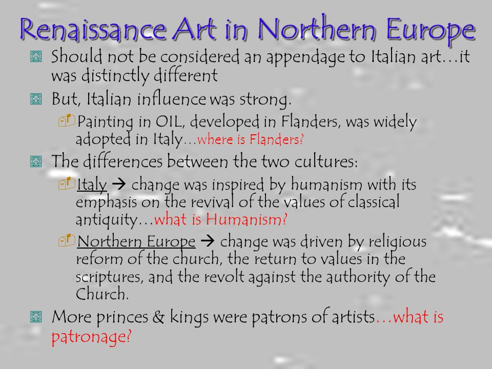 Renaissance Art in Northern Europe