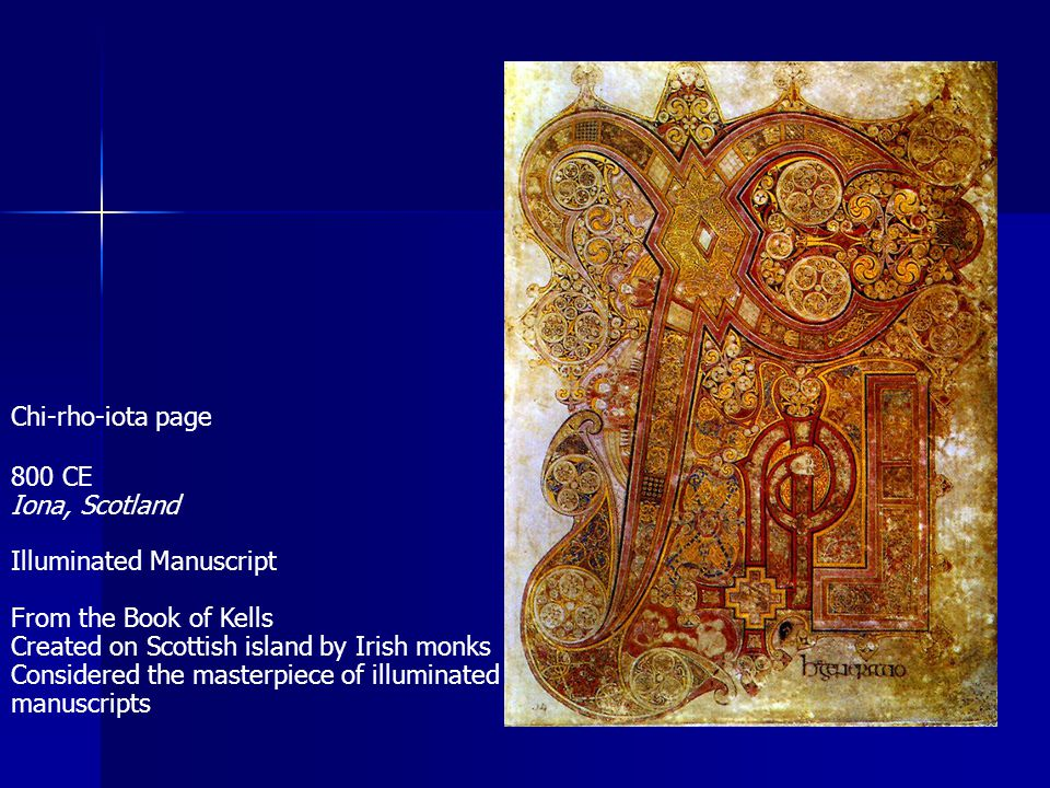 Illuminated Manuscript From the Book of Kells