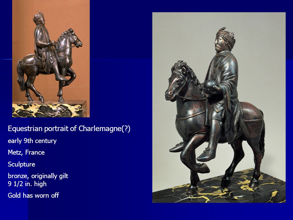 Equestrian portrait of Charlemagne( )