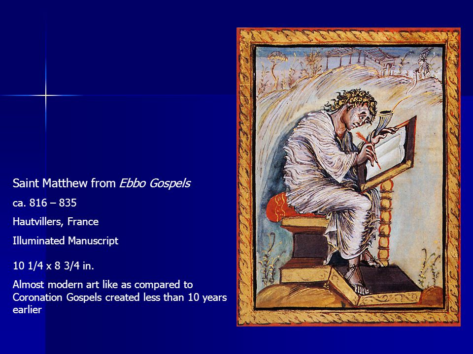 Saint Matthew from Ebbo Gospels