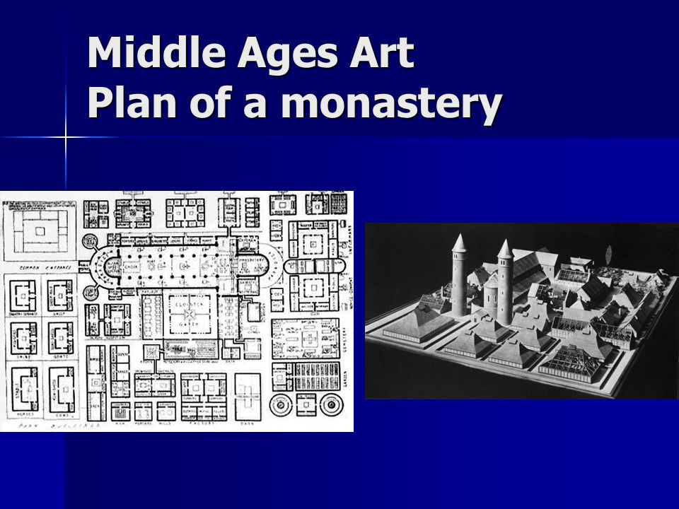 Middle Ages Art Plan of a monastery