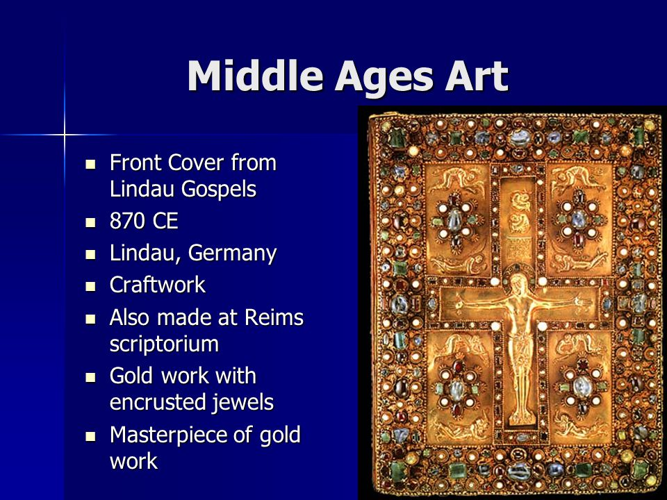Middle Ages Art Front Cover from Lindau Gospels 870 CE Lindau, Germany