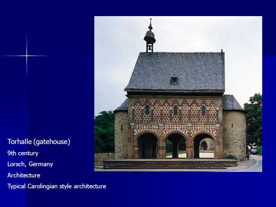 Torhalle (gatehouse) 9th century Lorsch, Germany Architecture