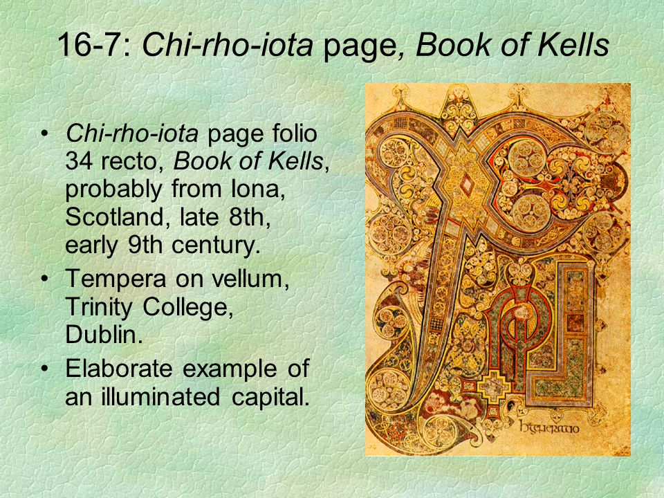 16-7: Chi-rho-iota page, Book of Kells