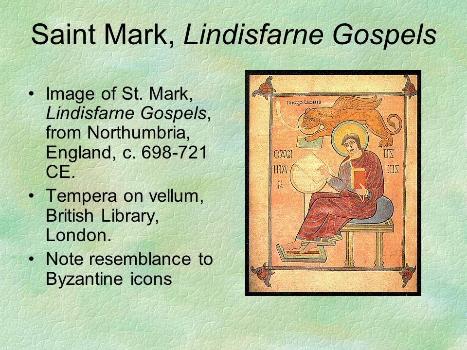 Saint Mark, Lindisfarne Gospels