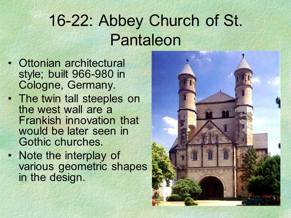 16-22: Abbey Church of St. Pantaleon