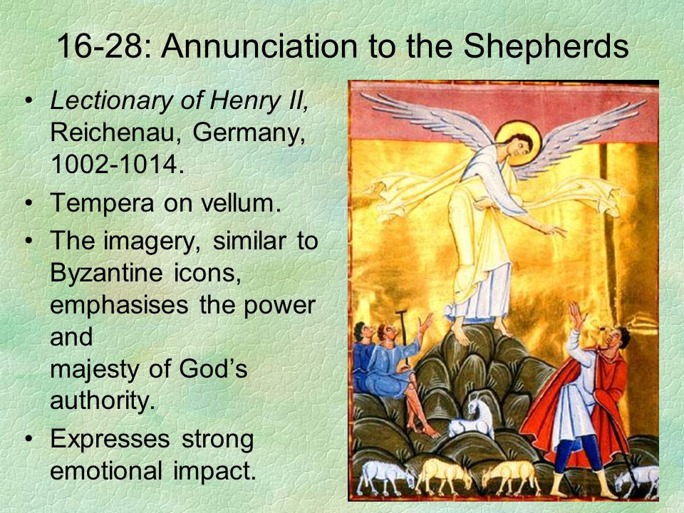 16-28: Annunciation to the Shepherds