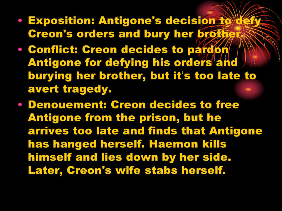 the conflict of law in antigone Underlying the conflict between antigone and ismene are some larger issues or conflicts identify them man vs man gods law peoples law, creon vs antigone antigone the law is strong, we must give in to the law in this thing, and in worse i beg the dead.