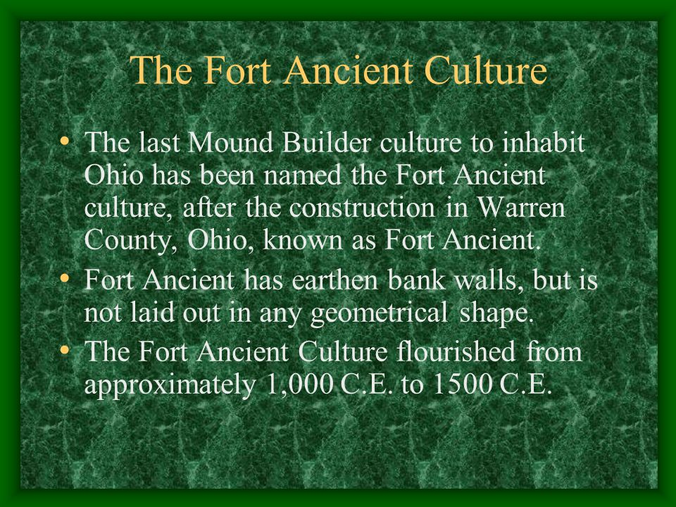 The Fort Ancient Culture
