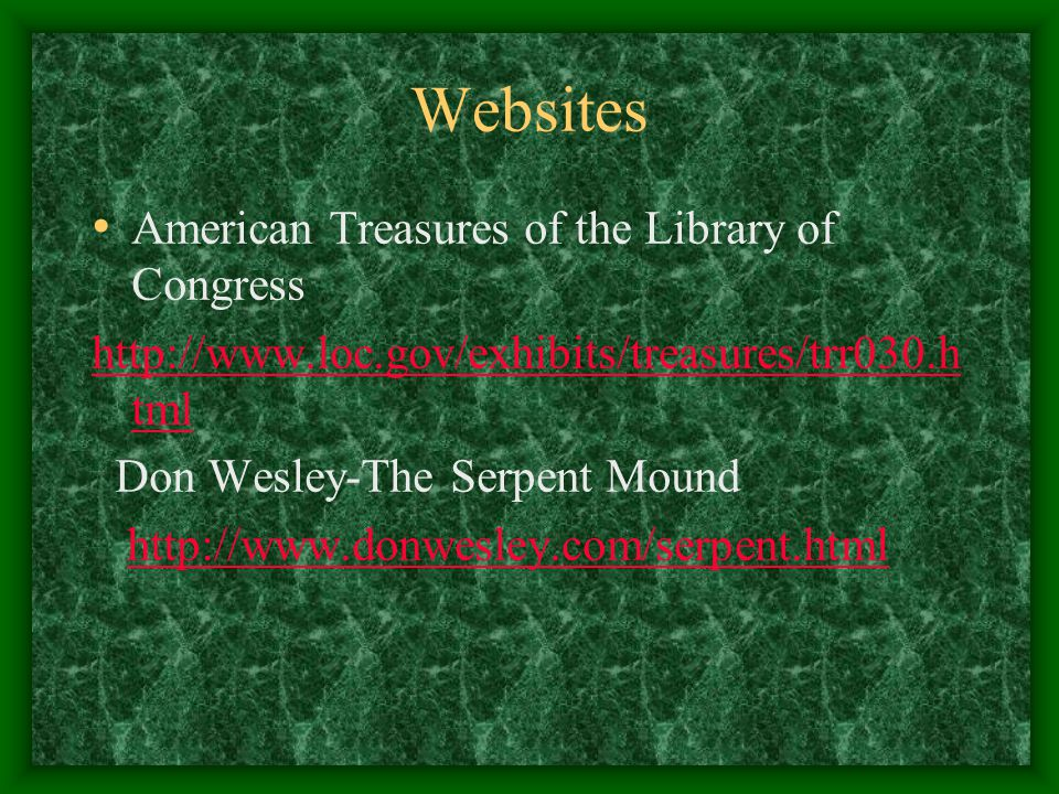 Websites American Treasures of the Library of Congress
