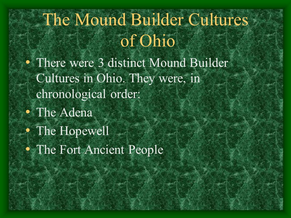 The Mound Builder Cultures of Ohio
