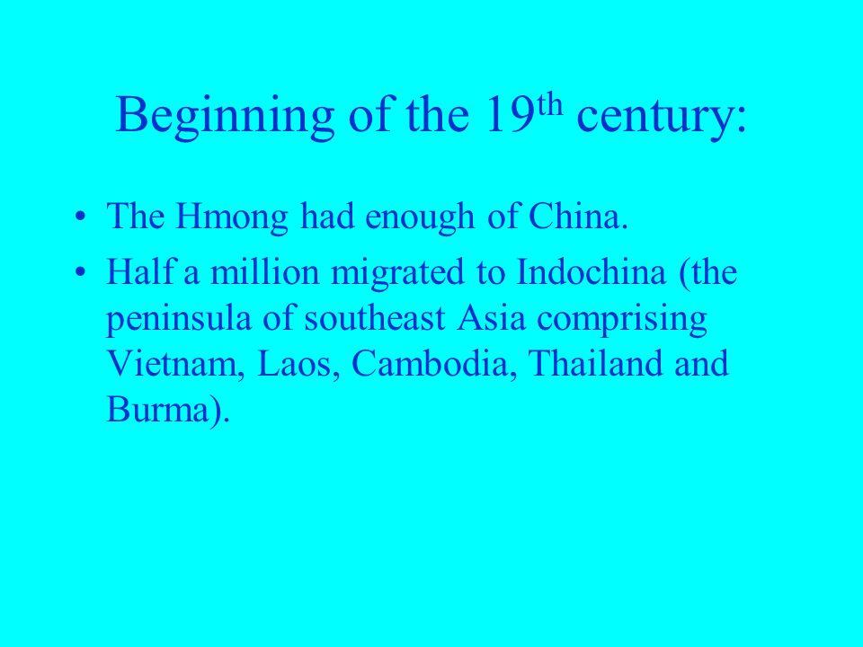 Beginning of the 19th century: