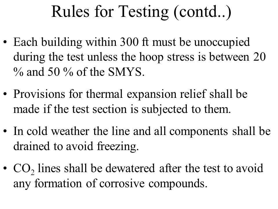 Rules for Testing (contd..)