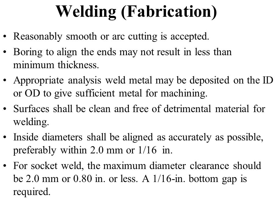 Welding (Fabrication)