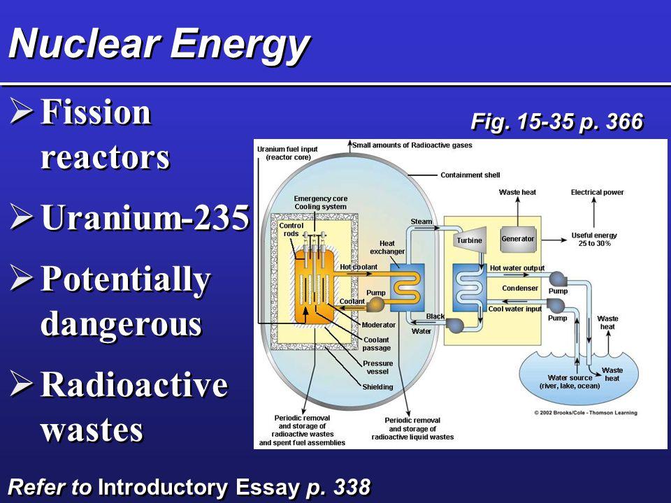 Nuclear Energy Fission reactors Uranium-235 Potentially dangerous