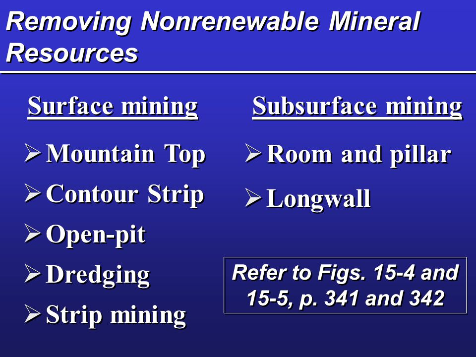 Removing Nonrenewable Mineral Resources