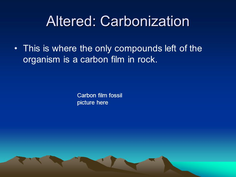 Altered: Carbonization