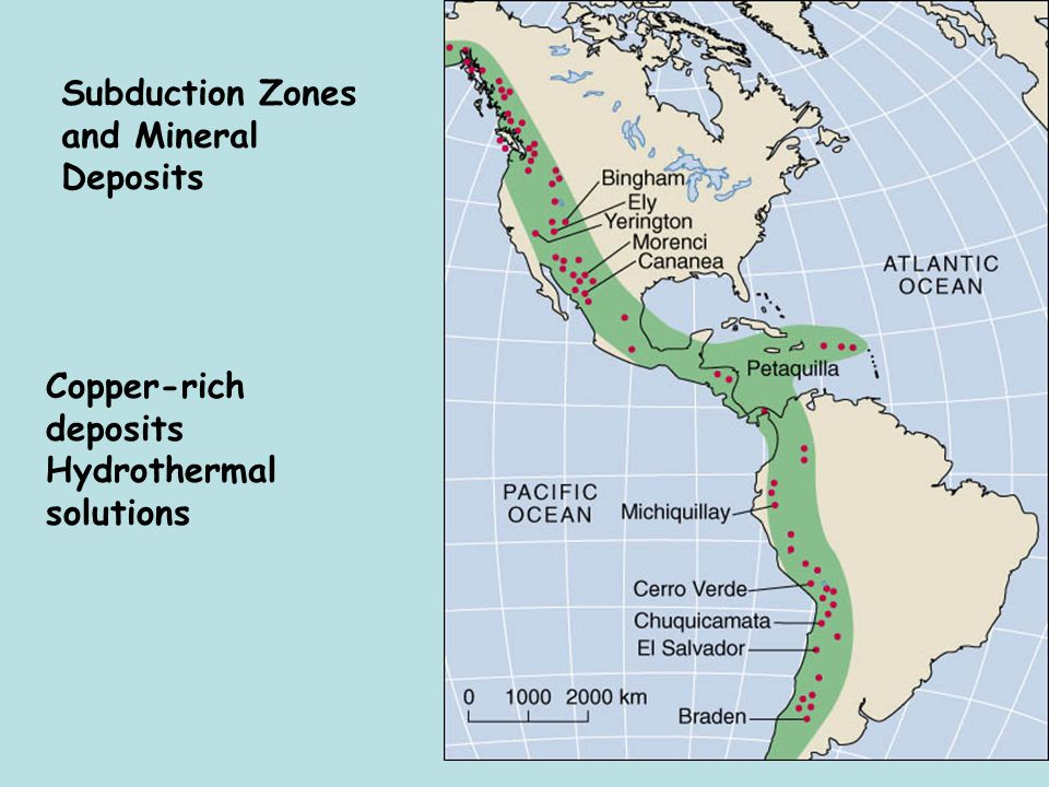 Subduction Zones and Mineral Deposits