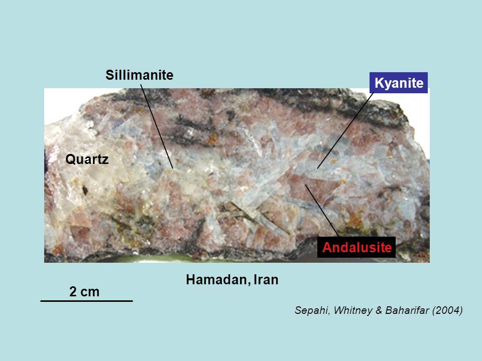 Sillimanite Kyanite Quartz Andalusite Hamadan, Iran 2 cm