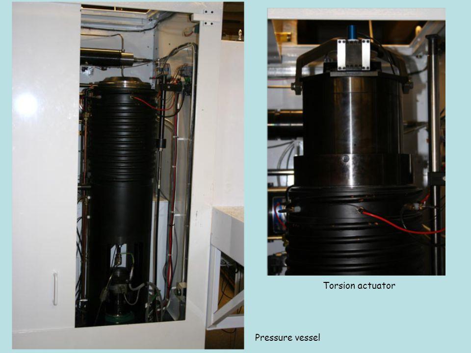 Torsion actuator Pressure vessel