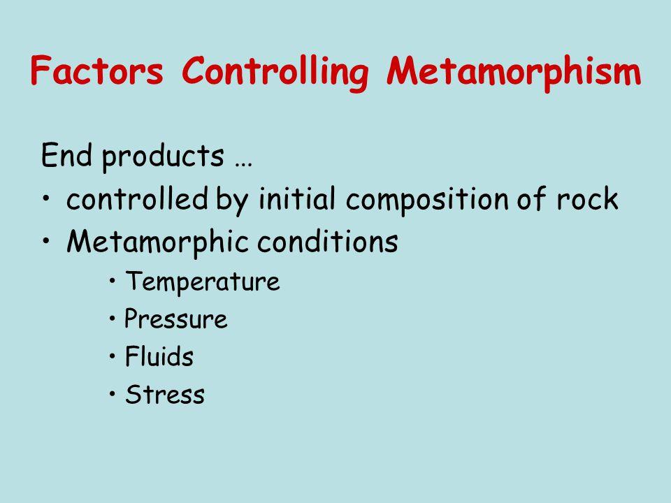 Factors Controlling Metamorphism