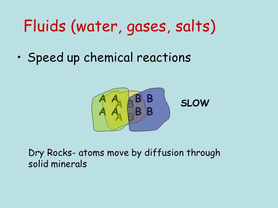Fluids (water, gases, salts)