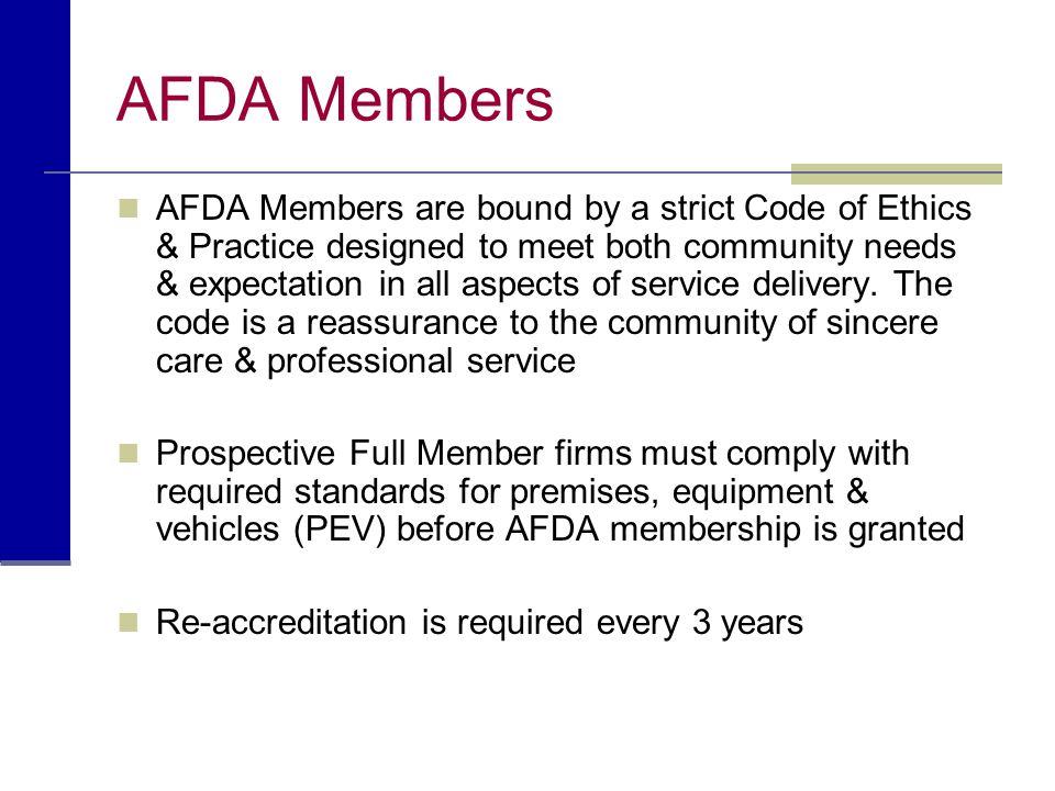 AFDA Members