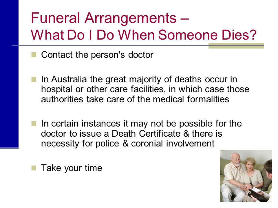 Funeral Arrangements – What Do I Do When Someone Dies