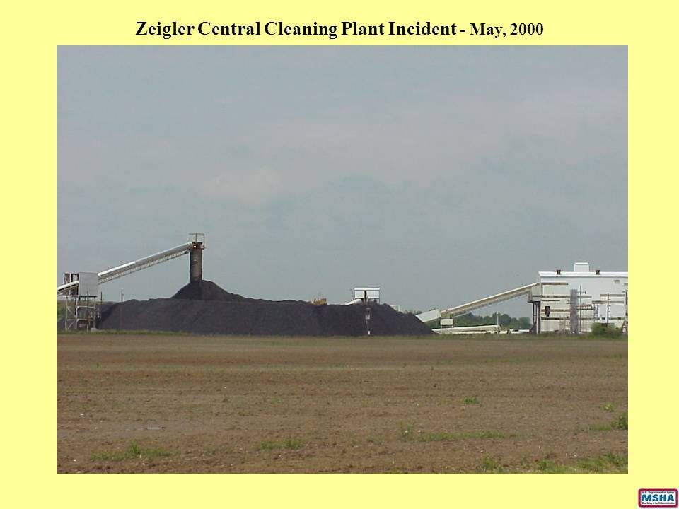 Zeigler Central Cleaning Plant Incident - May, 2000