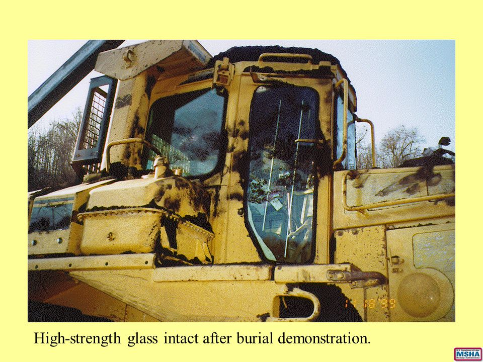 High-strength glass intact after burial demonstration.