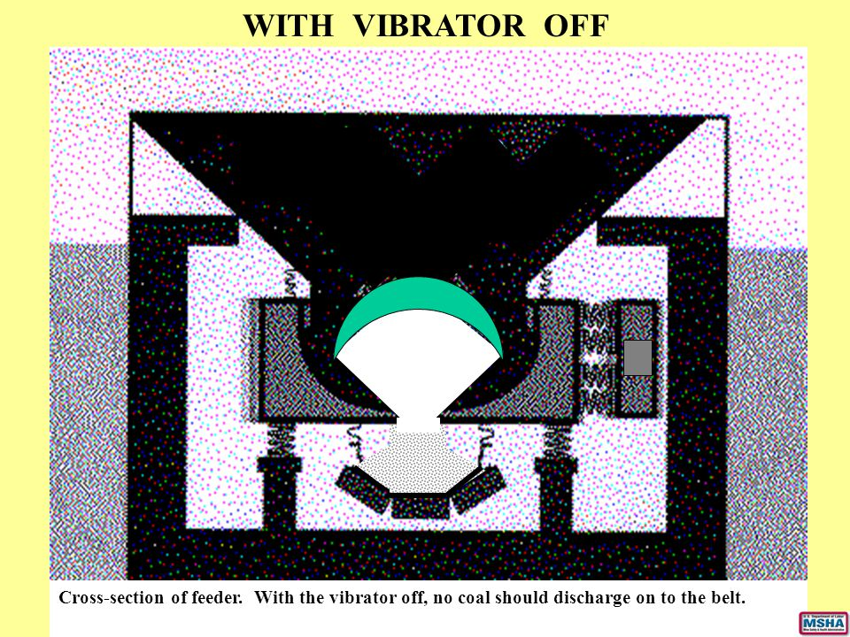 WITH VIBRATOR OFF Cross-section of feeder.