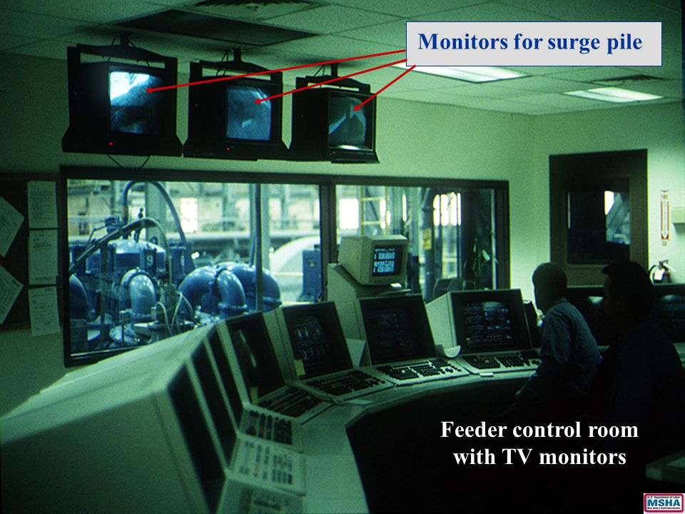 Feeder control room with TV monitors